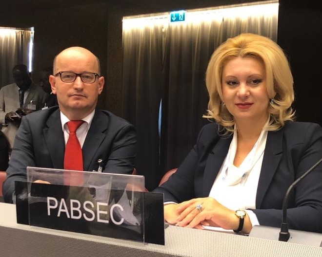 Participation of Ms. Violeta Ivanov, Head of the PABSEC Moldovan Delegation and of Mr. Daniel Dulca, PABSEC Deputy Secretary General, in the 139th IPU Assembly, Geneva, 14-18 October 2018
