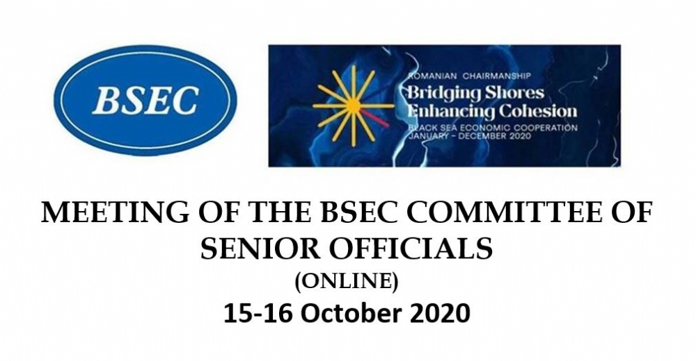 The PABSEC Participation in the Online Meeting of the BSEC Committee of Senior Officials, 16 October 2020