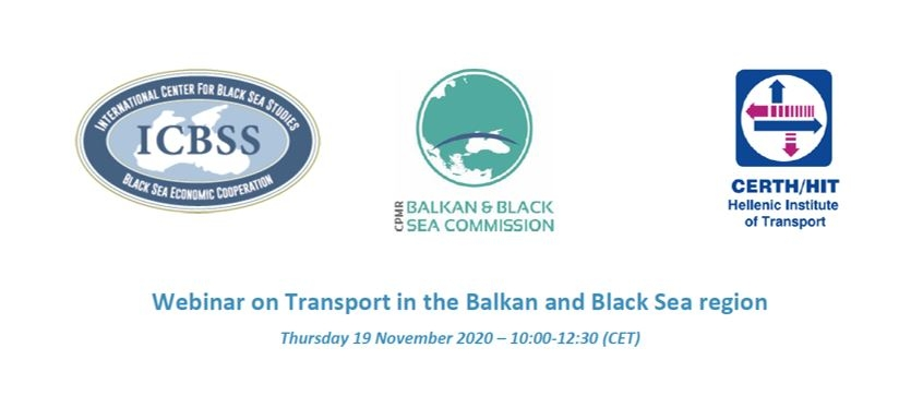 "Participation of the PABSEC International Secretariat in the webinar ""Transport in the Balkan and Black Sea region"", 19 November 2020"