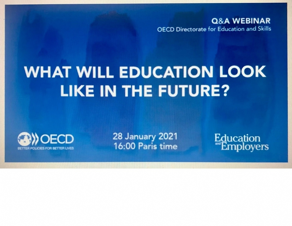 "Participation of the PABSEC International Secretariat to the OECD Webinar ""What will education look like in the future?"", 28 January 2021"