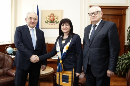 Visit of Mr. Asaf Hajiyev, PABSEC Secretary General, to Mrs. Tsveta Karayancheva, Speaker of the National Assembly of the Republic of Bulgaria, Sofia, 15 February 2018