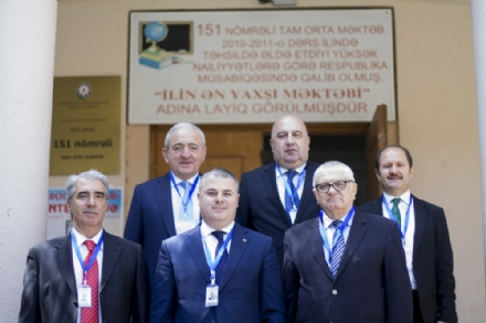 The PABSEC Delegation in the Monitoring Observer Election Mission in Baku, Azerbaijan, 11 April 2018