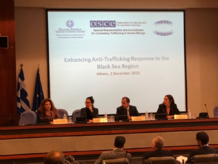 "Participation of the PABSEC in the ""Enhancing Anti-Trafficking Response in the Black Sea Region"" Conference, Athens, 2 December 2019"