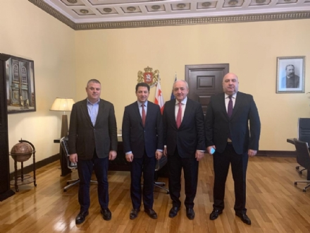 Working visit of Mr. Asaf Hajiyev, PABSEC Secretary General, to the Parliament of Georgia, Tbilisi, 26 December 2019.
