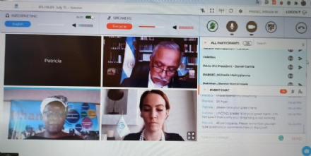 "Participation of the PABSEC International Secretariat to the virtual Parliamentary Forum ""The Big Reset: Learning from COVID-19 to fast-track the SDGs"" , IPU, 15 July 2020"