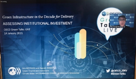 "Participation of the PABSEC International Secretariat to the OECD Webinar ""Green Infrastructure in the Decade for Delivery: Assessing Institutional Investment"", 14 January 2021"