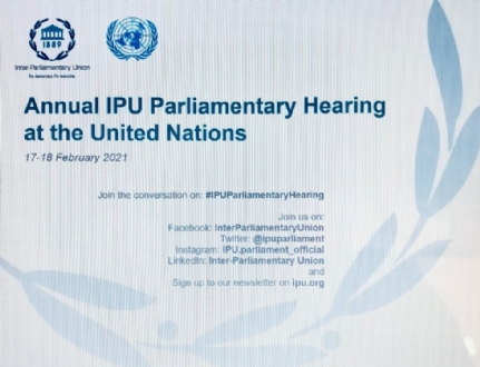 Participation of the PABSEC International Secretariat to the UN Annual Parliamentary Hearing, 17-18 February 2021