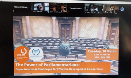 "Participation of the PABSEC International Secretariat to the IPU Webinar ""The Power of Parliamentarians: Opportunities and Challenges for Effective Development Co-operation"", 30 March 2021"