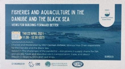 "Participation of the PABSEC International Secretariat to the online conference ""Fisheries and Aquaculture in the Danube and the Black Sea region: views for building forward better"", 22 April 2021"