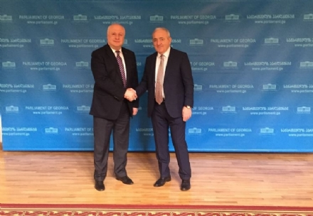 Meeting of the PABSEC Secretary General Mr. Asaf Hajiyev with the Vice President of the OSCE PA Mr. Giorgi Tsereteli, Tbilisi, 15 March 2016
