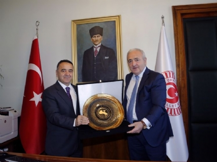 Meeting of Mr. Asaf HAJIYEV, PABSEC Secretary General and Mr. Fuat KÜÇÜKAYDIN, PABSEC Deputy Secretary General with Mr. Irfan NEZIROGLU, Secretary General of the Grand National Assembly of Turkey (GNAT), Ankara, 30 May 2016.