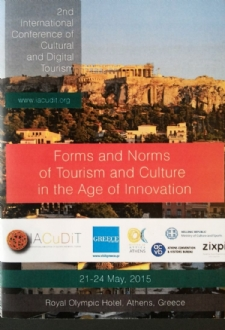 PABSEC International Secretariat participation in the 2nd International Conference on Cultural and Digital Tourism, Athens 21-23 May 2105