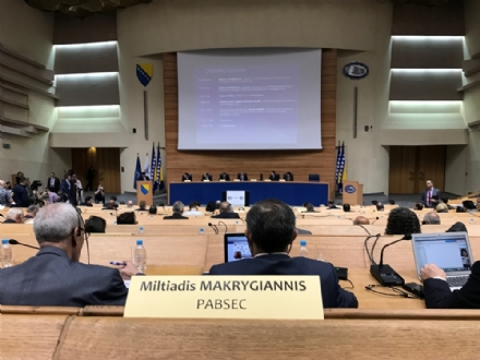 Participation of Dr. Miltiadis Makrygiannis, the PABSEC Deputy Secretary General, in the Joint 94th Rose - Roth Seminar  Mediterranean and Middle East Special Group,  Sarajevo, 21 - 23 March 2017
