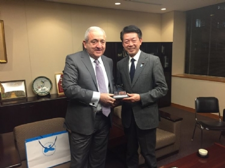 The Meeting of Mr. Asaf HAJIYEV, PABSEC Secretary General, with Mr. Nobuo Kishi, member of the House of Councillors of the National Diet of Japan and Mr.Yoji Muto, State Minister for Foreign Affairs of Japan, Tokyo, 14-16 February 2016