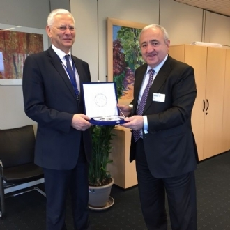 The Meeting of Mr. Asaf Hajiyev, PABSEC Secretary General, with Mr. Wojciech Sawicki, Secretary General of the Parliamentary Assembly of the Council of Europe (PACE), Strasbourg, 28 January 2015