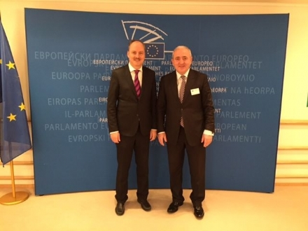 The meeting of the PABSEC Secretary General Mr. Asaf Hajiyev with Mr. Klaus Welle, EP Secretary General, Brussels, 2 February 2015