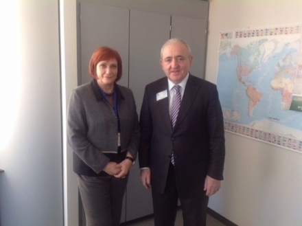 The Meeting of the PABSEC Secretary General Mr. Asaf Hajiyev with Ms. Iskra Mihaylova, Chairperson of the Committee for Regional Development of the European Parliament Brussels, 4 February 2015