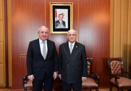 Visit of Mr. Asaf Hajiyev, PABSEC Secretary General, and Mr. Fuat Kucukaydin, PABSEC Deputy Secretary General, to Mr. Ismail Kahraman, PABSEC President, Speaker of the Grand National Assembly of Turkey, Ankara, 9 December 2016