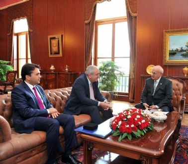 Visit of Mr. Asaf HAJIYEV, PABSEC Secretary General and Mr. Hasan BAYTEKİN, PABSEC Deputy Secretary General, to Mr. İsmail KAHRAMAN, Speaker of the Grand National Assembly of Turkey, Ankara, 17 December 2015