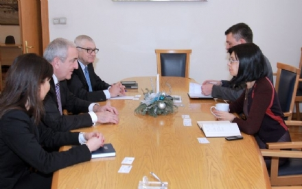 Visit of Mr. Asaf Hajiyev, PABSEC Secretary General to Mrs. Meglena Kuneva, Deputy Prime Minister for European Policies Coordination and Institutional Affairs of the Republic of Bulgaria, Sofia, 19 January 2015