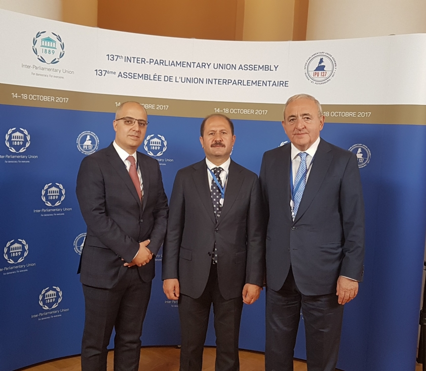 Participation of Mr. Ramazan CAN, PABSEC Vice-President, Head of the PABSEC Turkish Delegation and of Mr. Asaf HAJIYEV, PABSEC Secretary General, in the 137th Assembly of the Inter-Parliamentary Union (IPU)  St. Petersburg, 14-18 October 2017
