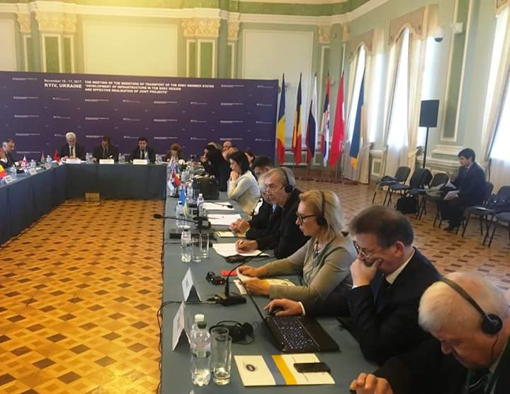 Participation of Mrs. Lyudmila Denisova, PABSEC Vice-President and Head of the PABSEC Ukrainian Delegation in the Meeting of the Ministers of Transport of the BSEC Member States, Kyiv, 17 November 2017