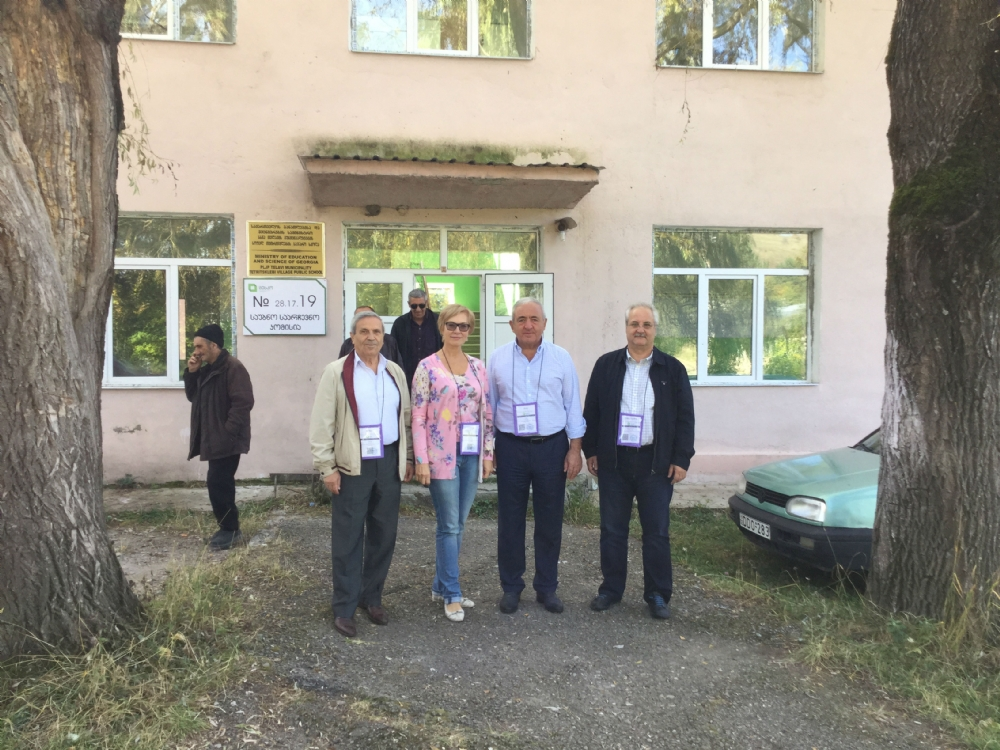 The PABSEC Delegation in the Monitoring Observer Election Mission in Telavi, Province of Kakheti, Georgia, 8 October 2016