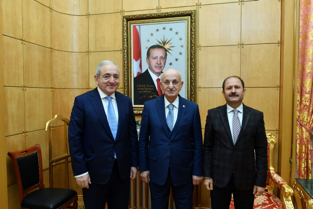 Visit of Mr. Asaf Hajiyev, PABSEC Secretary General and Mr. Fuat Küçükaydın, PABSEC Deputy Secretary General, to Mr. İsmail KAHRAMAN, Speaker of the Grand National Assembly of Turkey, Ankara, 5 February 2018