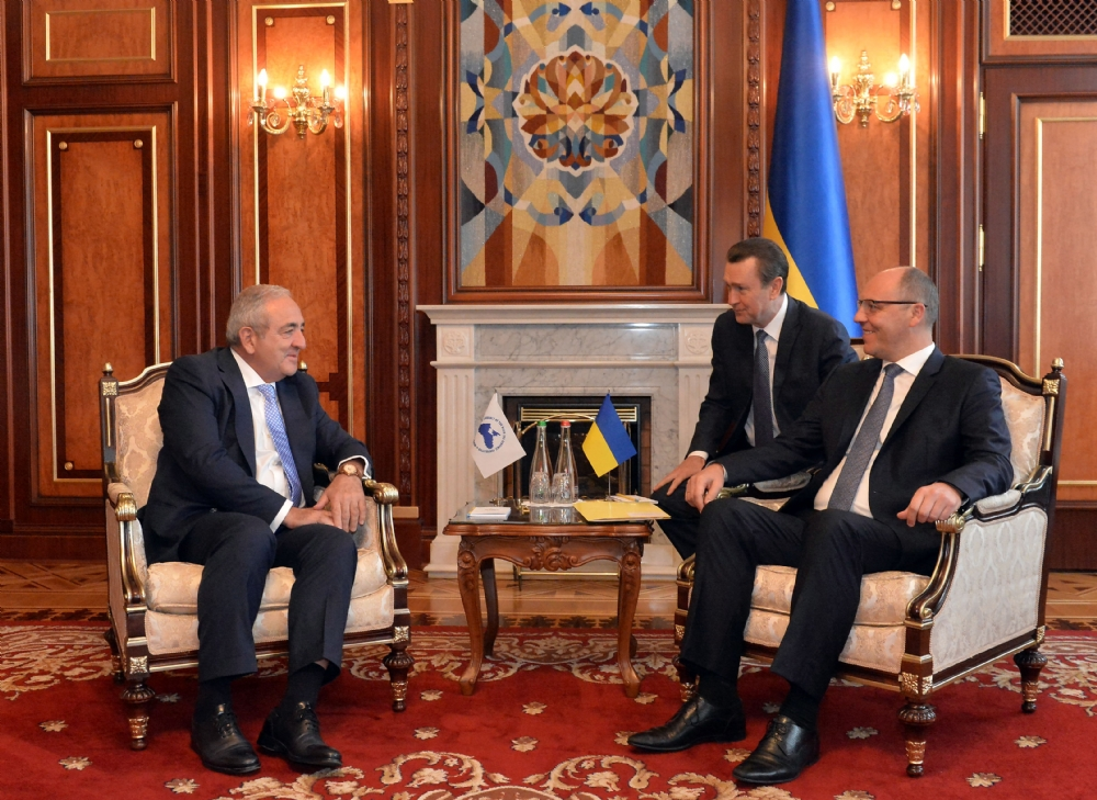 Visit of Mr. Asaf Hajiyev, PABSEC Secretary General, to Mr. Andriy Parubiy PABSEC President and Chairman of the Verkhovna Rada of Ukraine,  Kiev, 20 September 2017